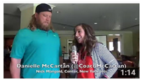 Danielle McCartan and Nick Mangold