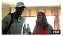 Danielle McCartan and Geno Smith